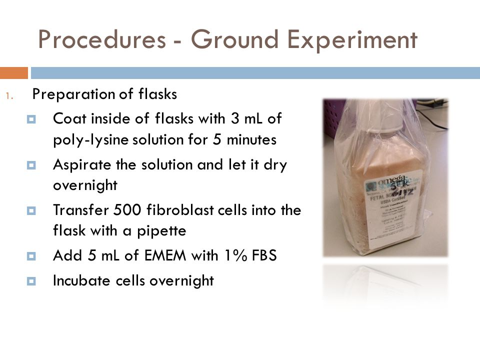 Procedures - Ground Experiment