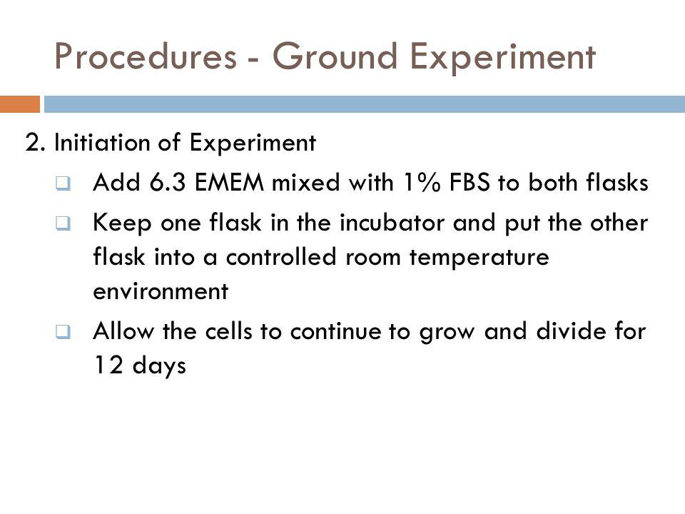 Procedures - Ground Experiment