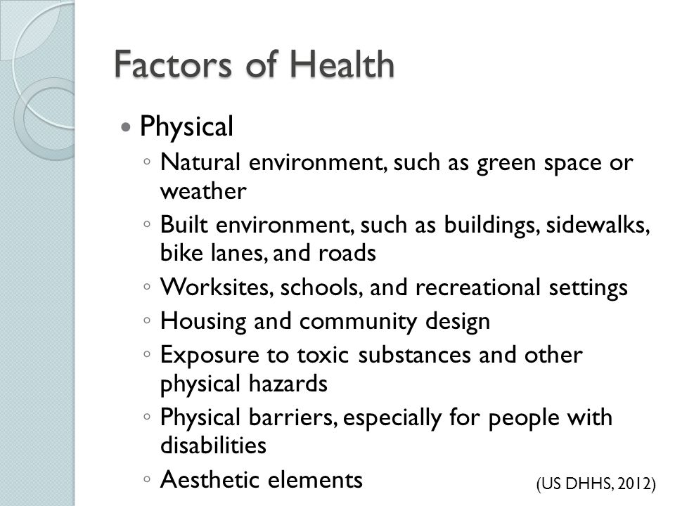 Factors of Health Physical