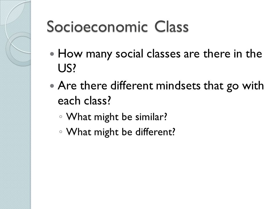 Socioeconomic Class How many social classes are there in the US