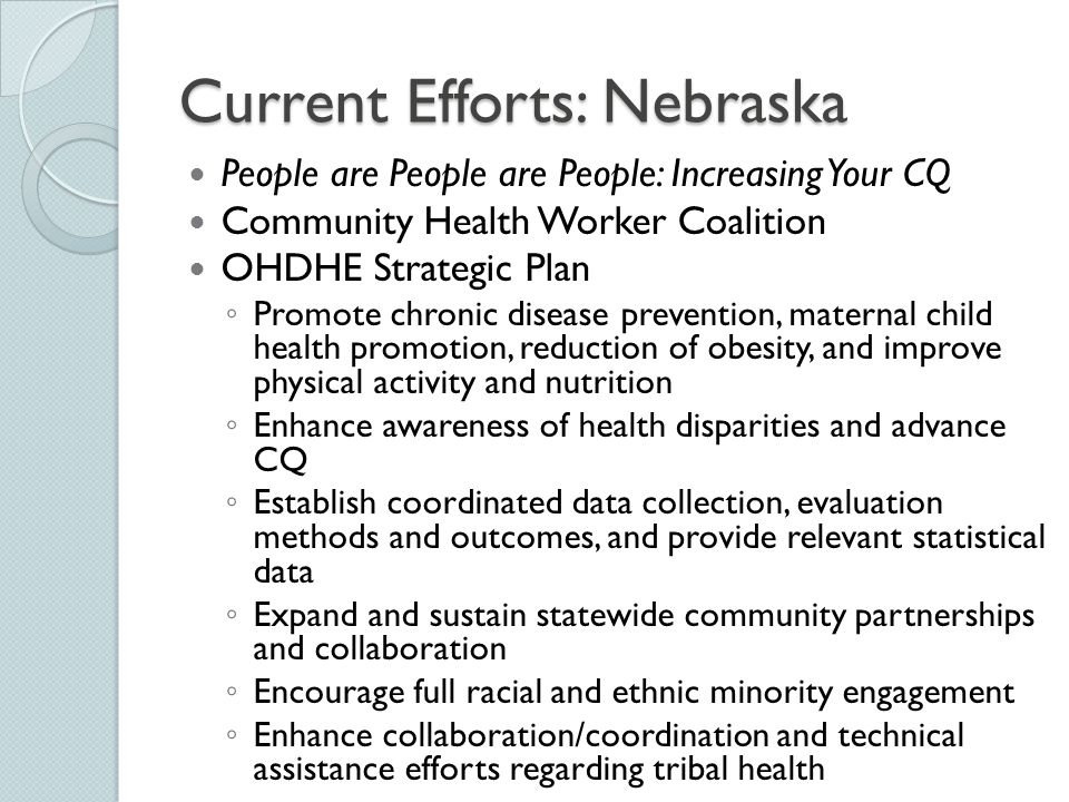 Current Efforts: Nebraska