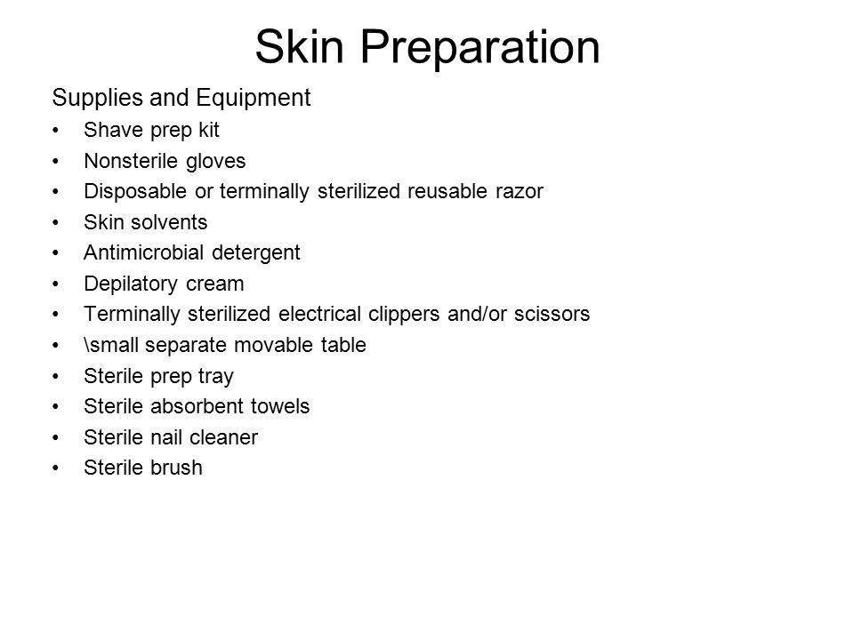 Skin Preparation Supplies and Equipment Shave prep kit