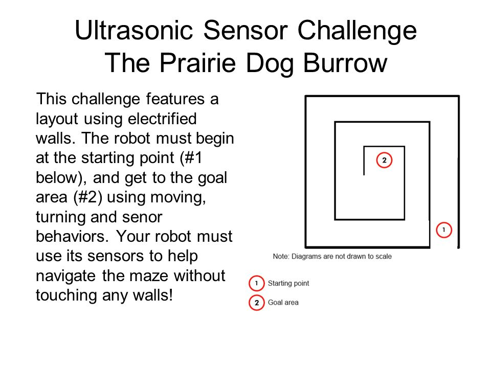 Ultrasonic Sensor Challenge The Prairie Dog Burrow