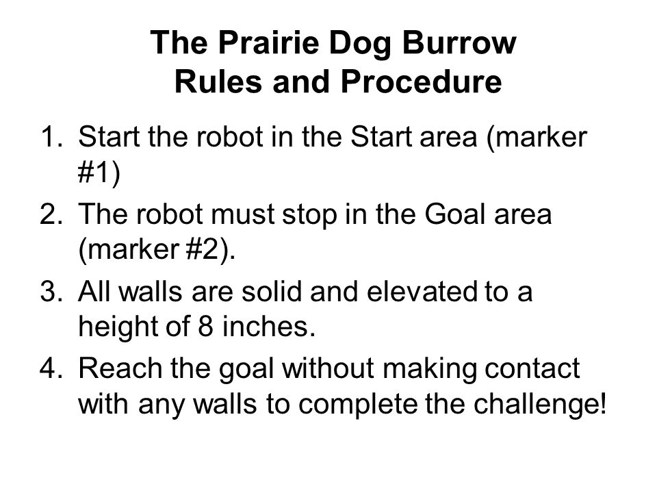 The Prairie Dog Burrow Rules and Procedure