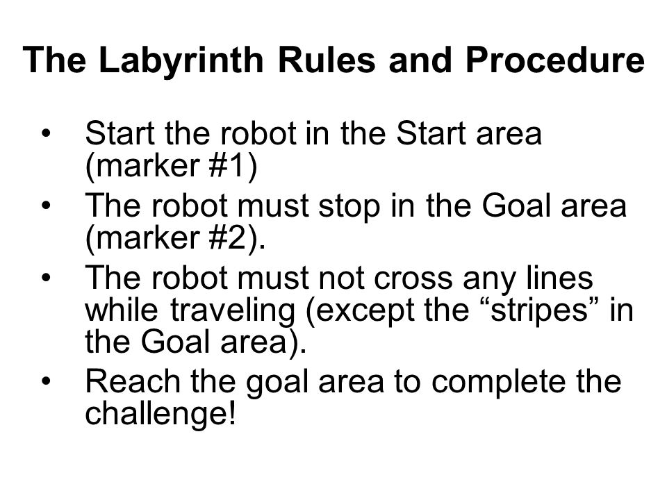 The Labyrinth Rules and Procedure