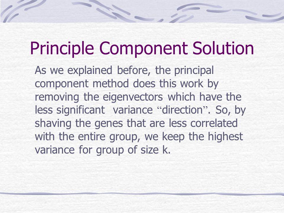 Principle Component Solution