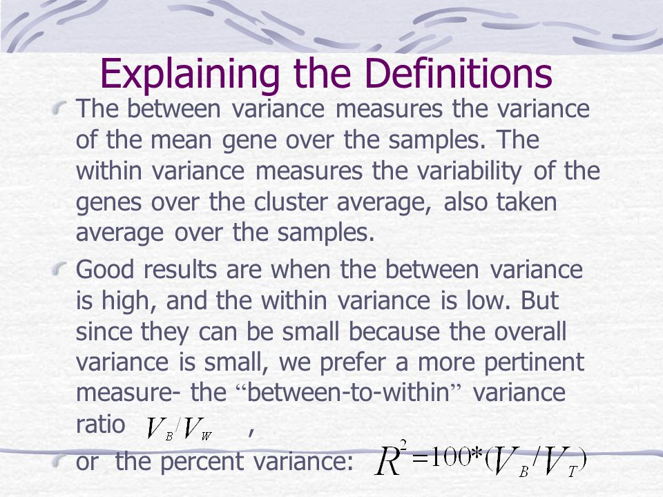 Explaining the Definitions