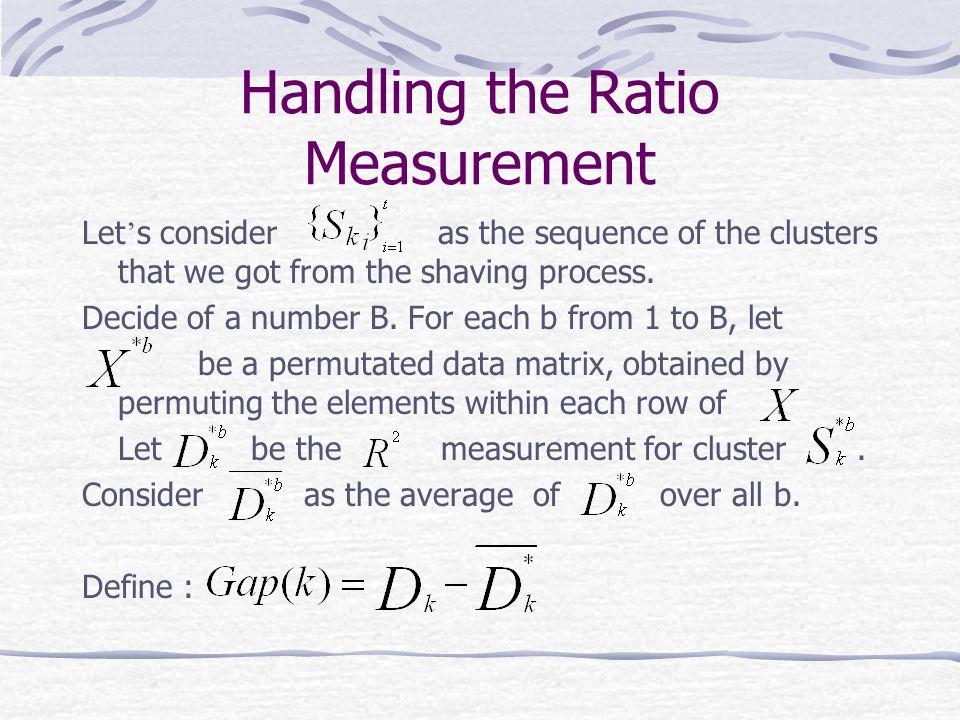 Handling the Ratio Measurement