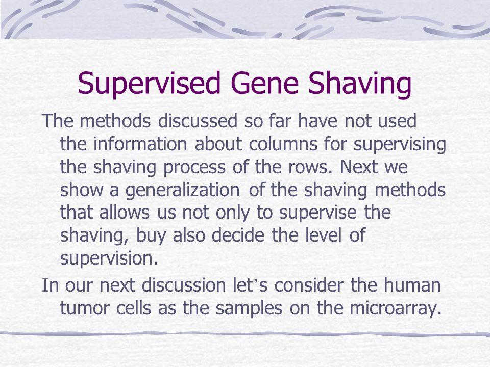Supervised Gene Shaving