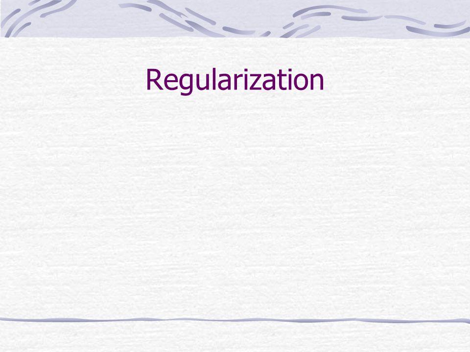 Regularization