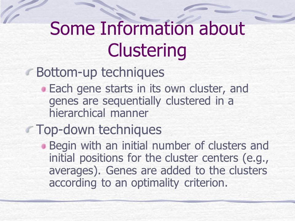 Some Information about Clustering