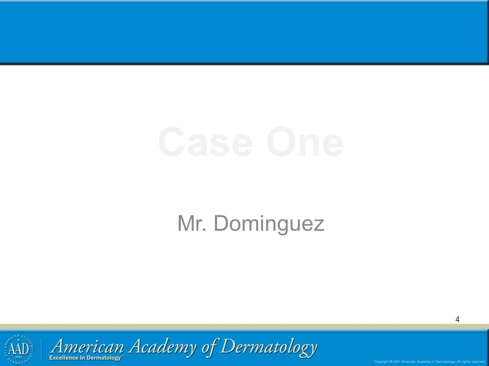 Case One Mr. Dominguez
