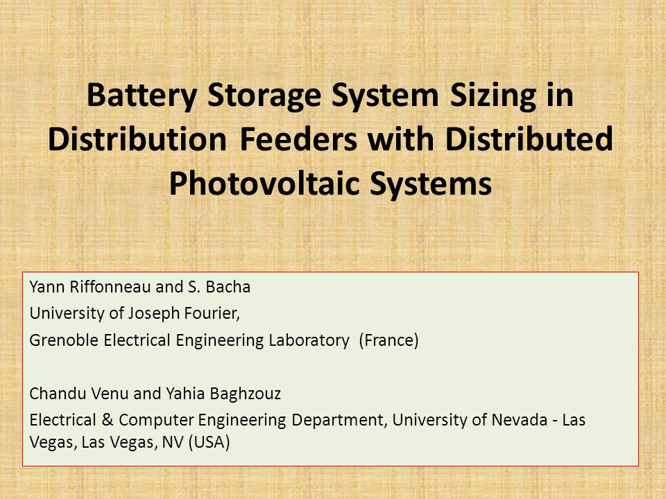 Battery Storage System Sizing in Distribution Feeders with Distributed Photovoltaic Systems