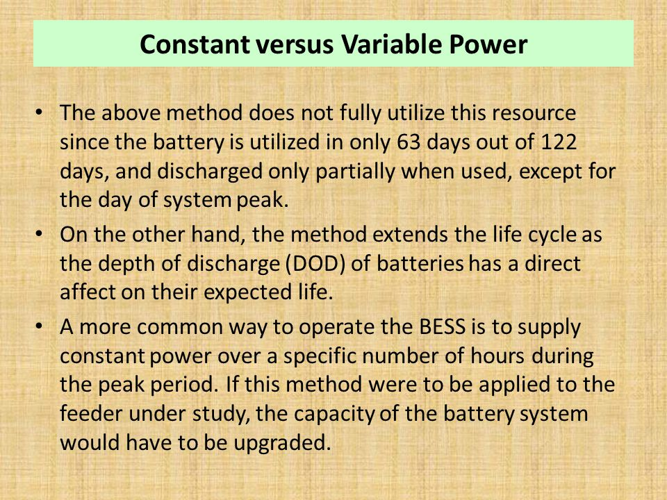 Constant versus Variable Power