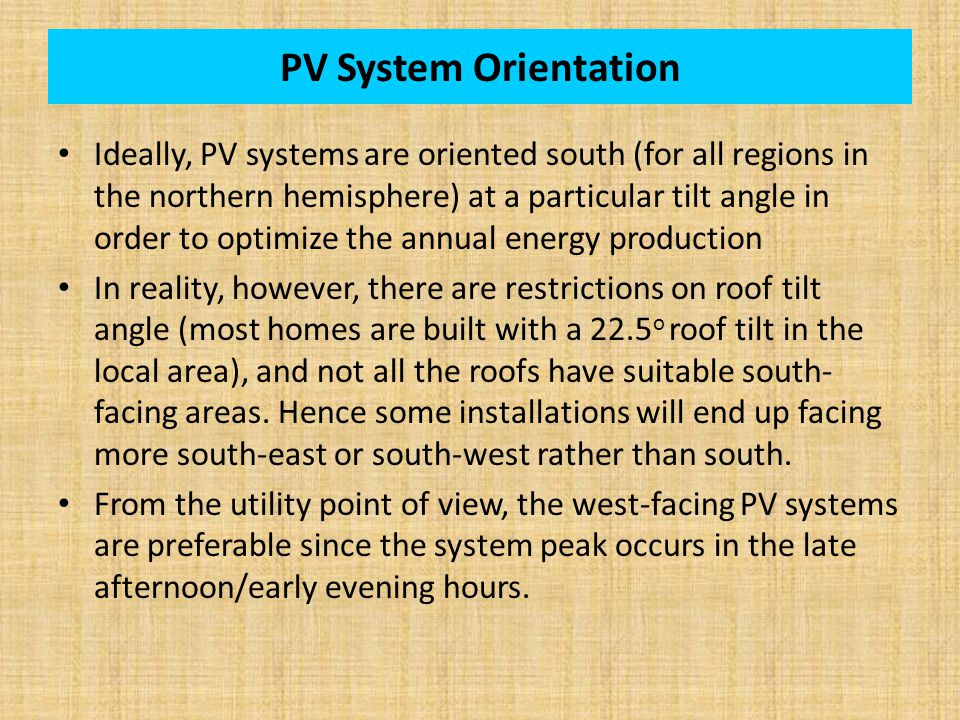 PV System Orientation