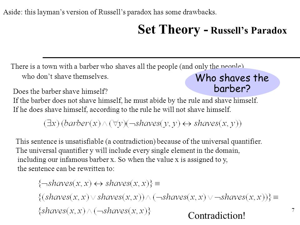 Set Theory - Russell's Paradox