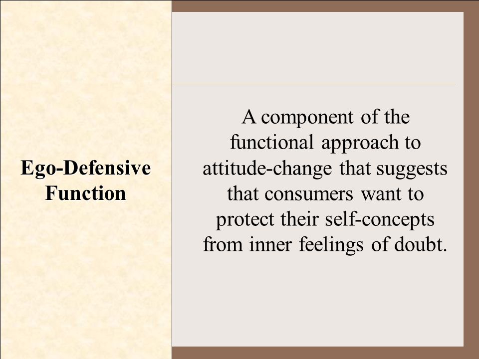 Ego-Defensive Function