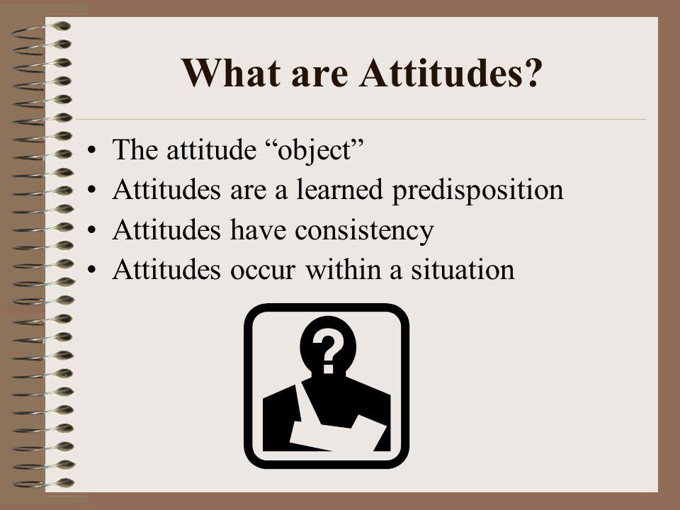 What are Attitudes The attitude object