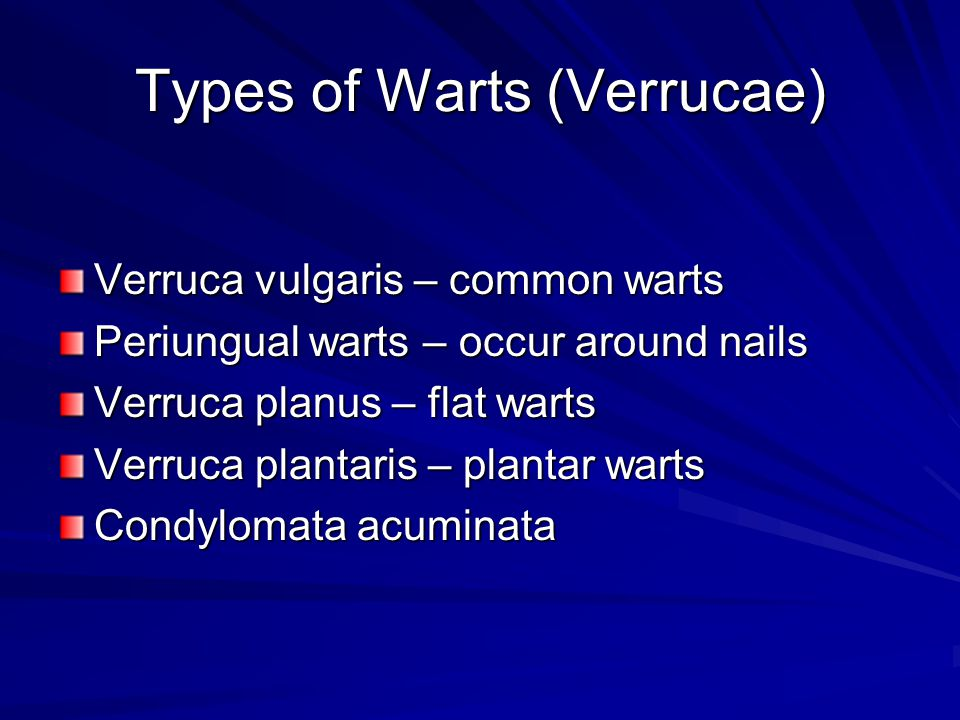 Types of Warts (Verrucae)