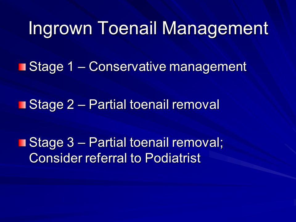 Ingrown Toenail Management