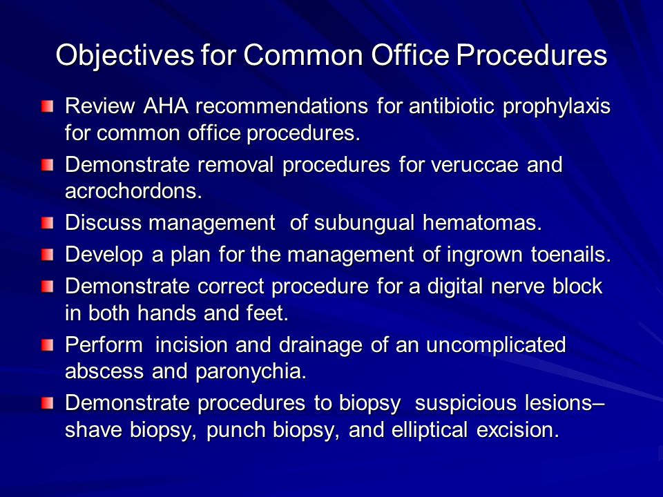 Objectives for Common Office Procedures