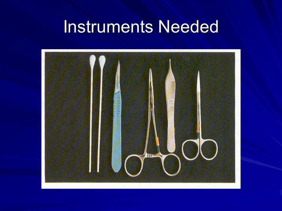 Instruments Needed