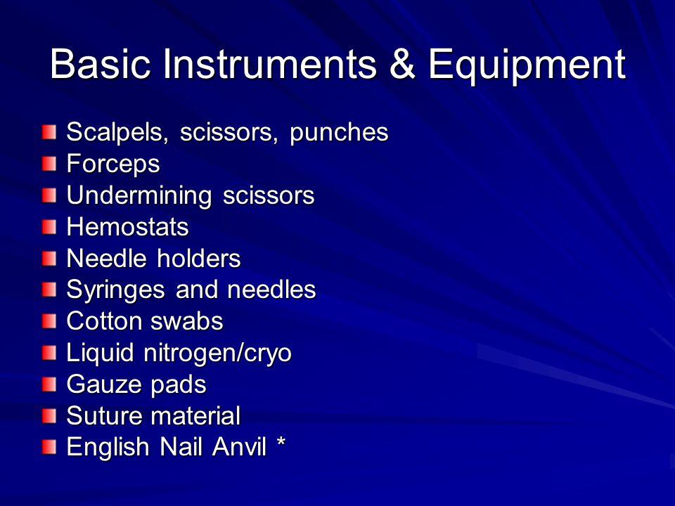 Basic Instruments & Equipment