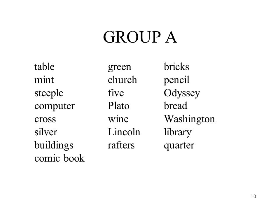 GROUP A table green bricks mint church pencil steeple five Odyssey