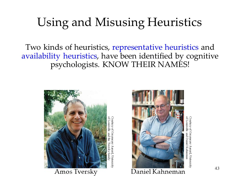 Using and Misusing Heuristics