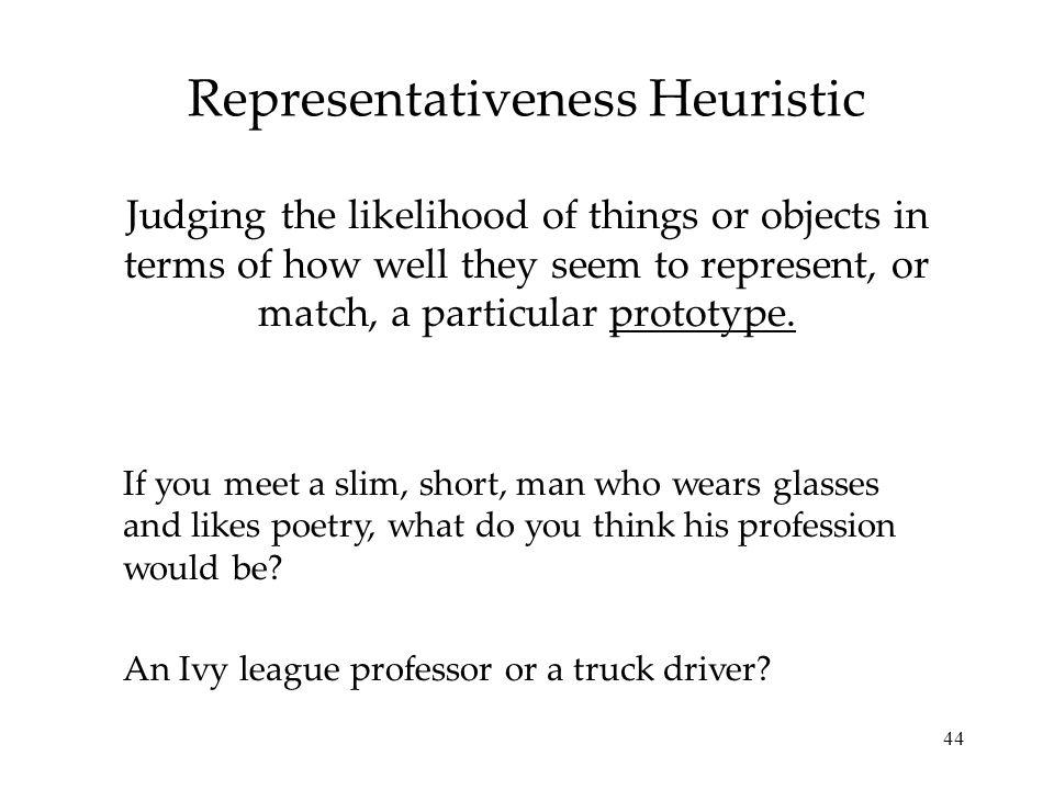Representativeness Heuristic