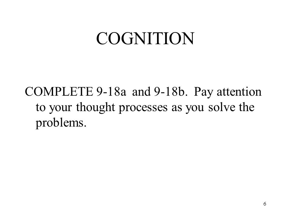COGNITION COMPLETE 9-18a and 9-18b.