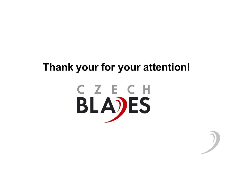 Thank your for your attention!