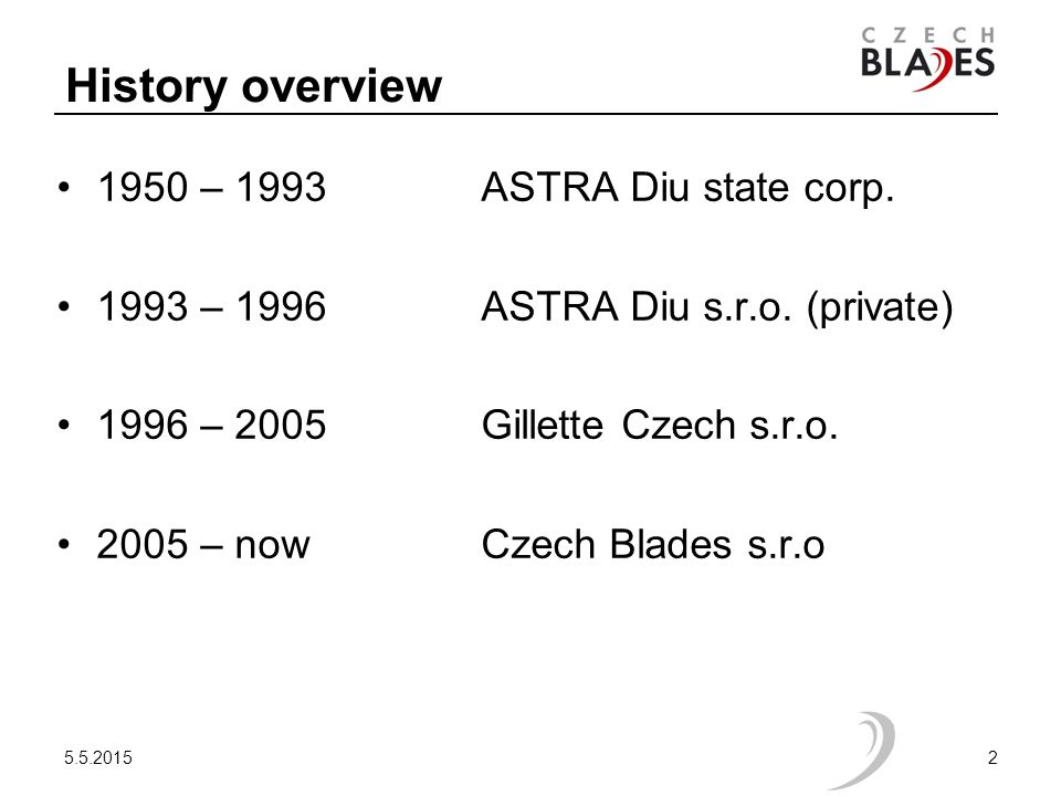 History overview 1950 – 1993 ASTRA Diu state corp.