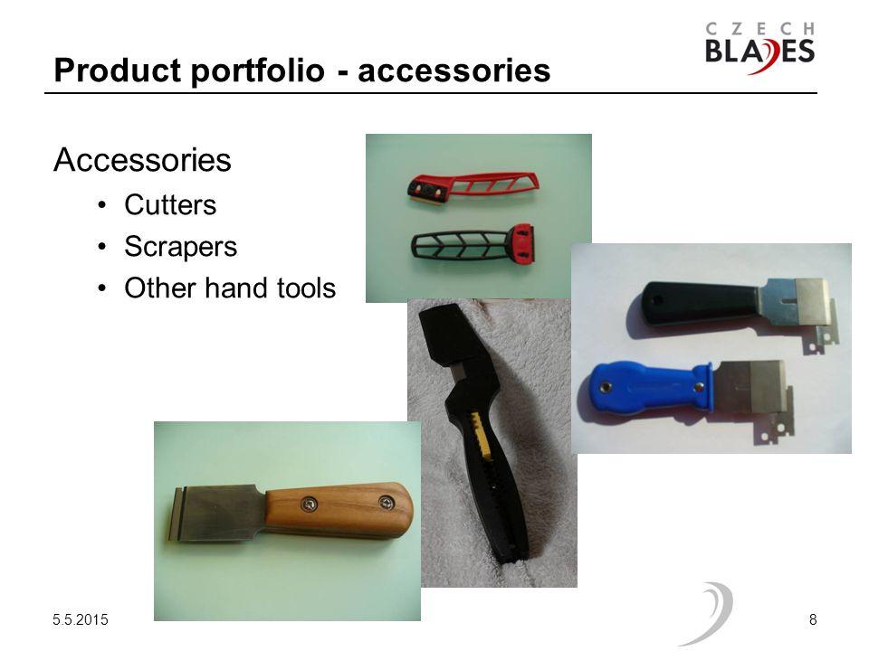 Product portfolio - accessories