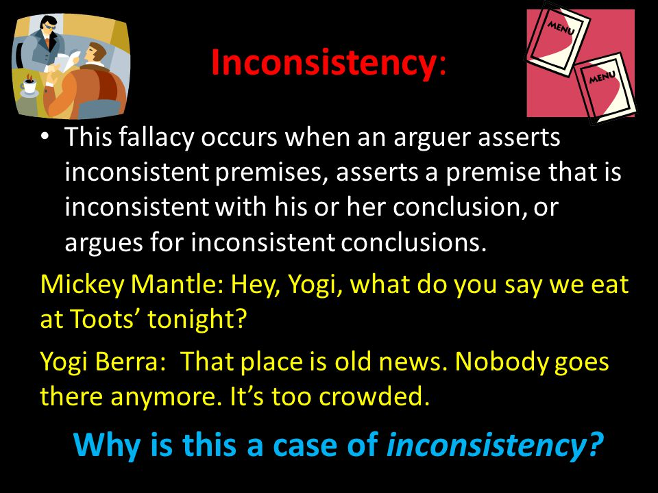 Inconsistency: Why is this a case of inconsistency
