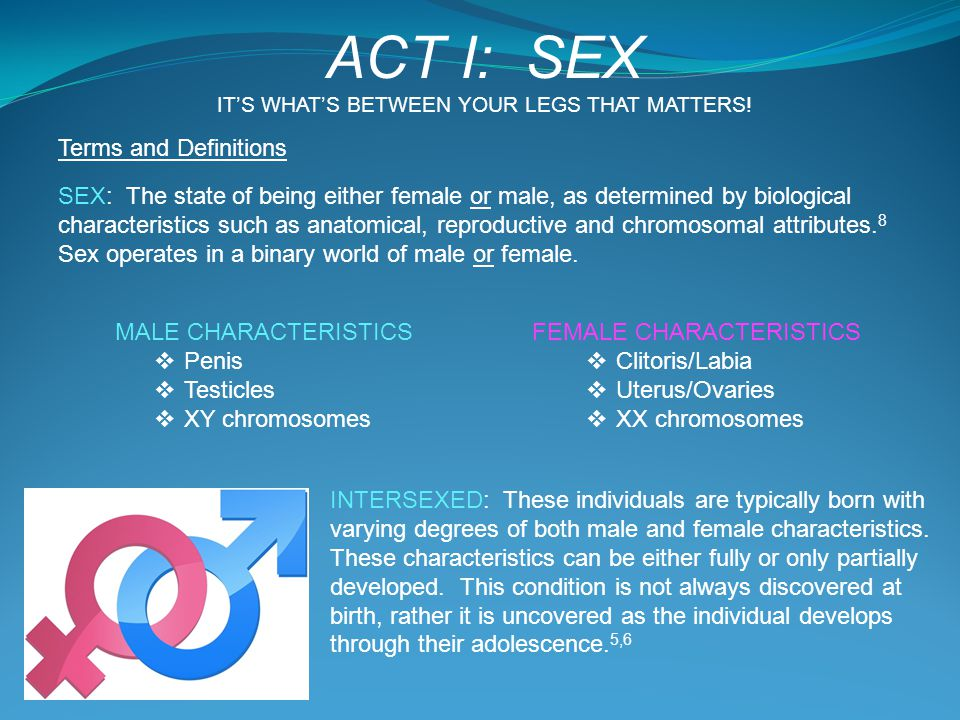 ACT I: SEX Terms and Definitions