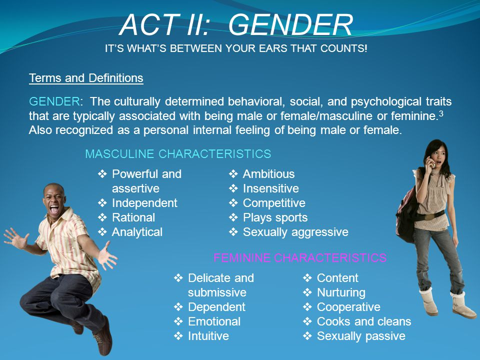 ACT II: GENDER Terms and Definitions