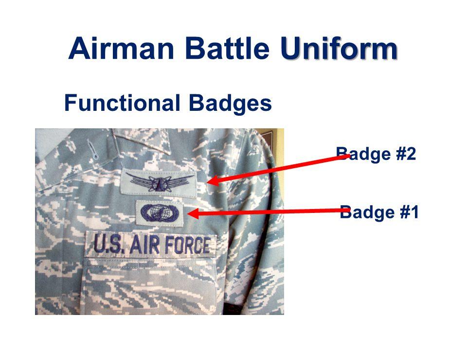 Airman Battle Uniform Functional Badges Badge #2 Badge #1