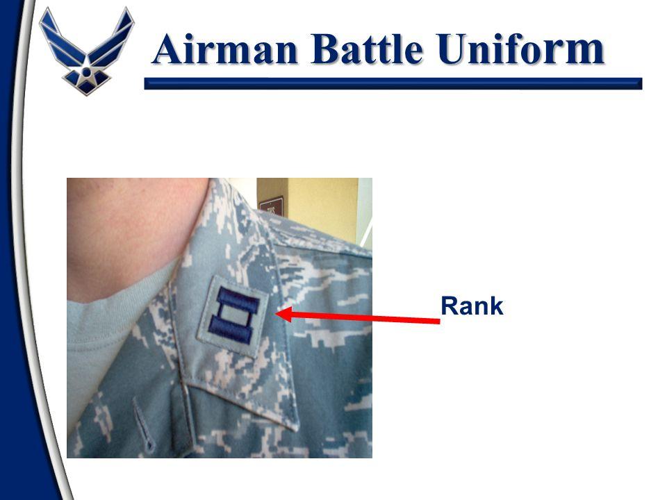 Airman Battle Uniform Shirt Rank Insignia