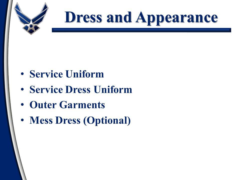 Dress and Appearance Service Uniform Service Dress Uniform