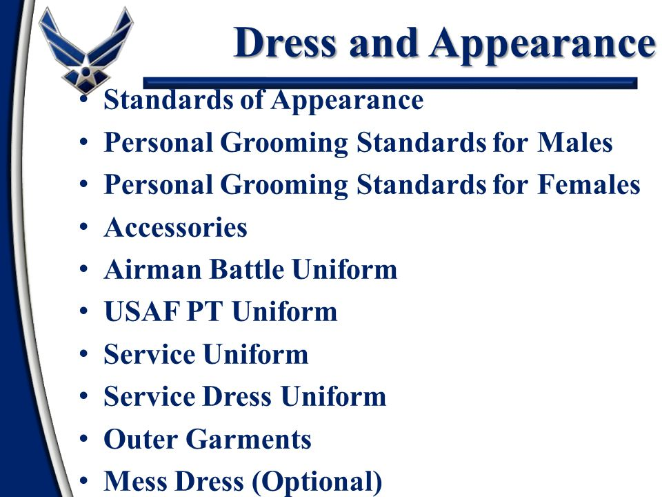 Dress and Appearance Standards of Appearance