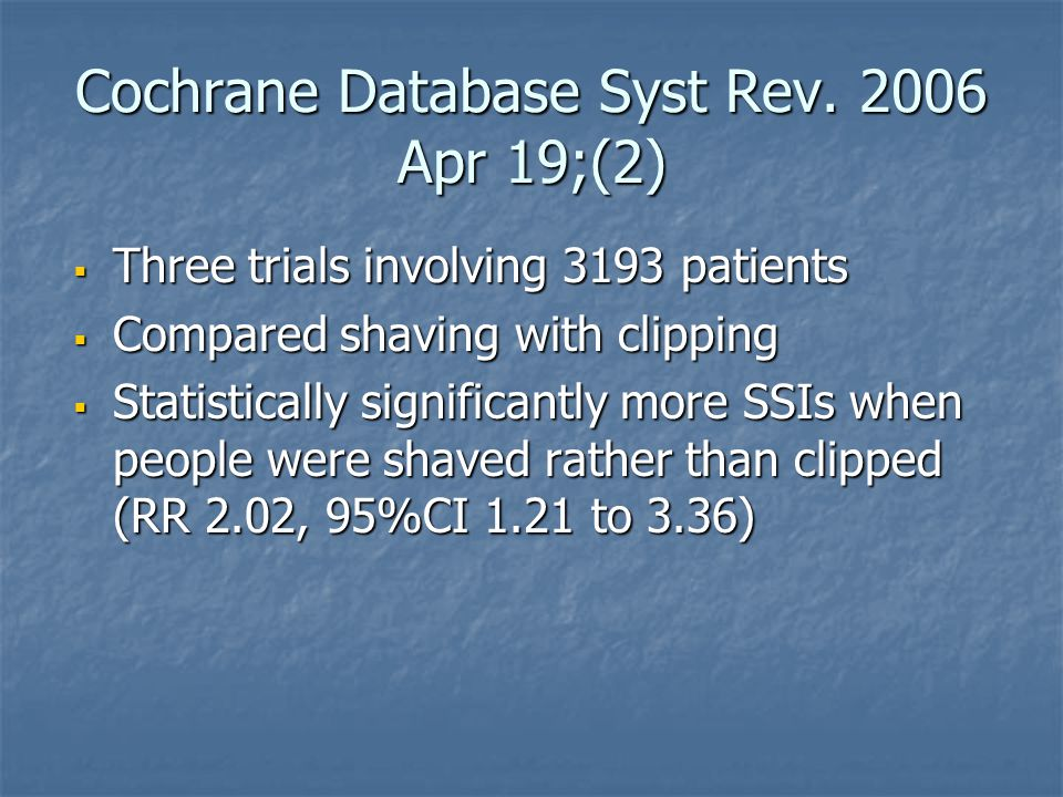 Cochrane Database Syst Rev. 2006 Apr 19;(2)