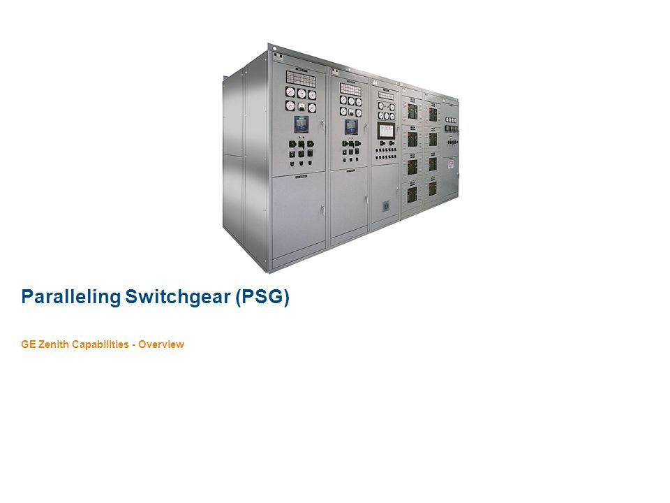 Paralleling Switchgear (PSG)