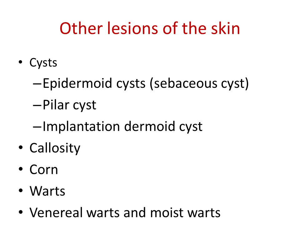 Other lesions of the skin