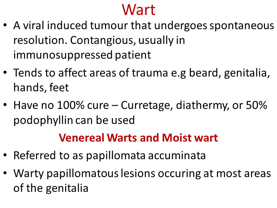 Venereal Warts and Moist wart