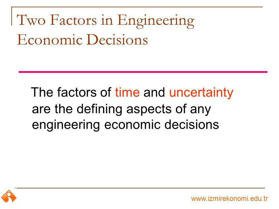 Two Factors in Engineering Economic Decisions