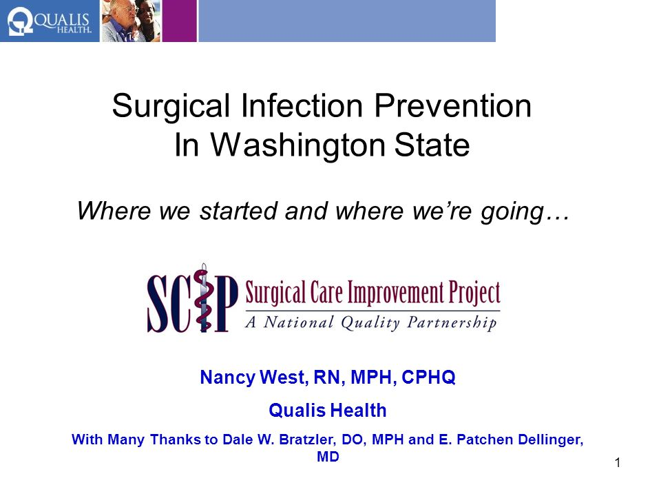 Surgical Infection Prevention In Washington State Where we started and where we're going…