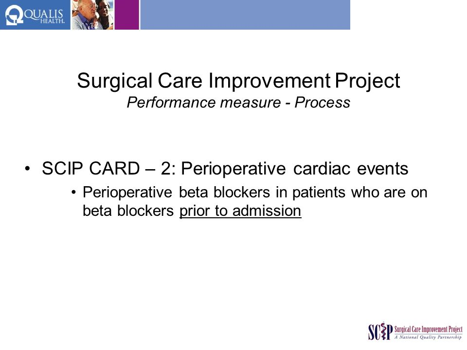 Surgical Care Improvement Project Performance measure - Process