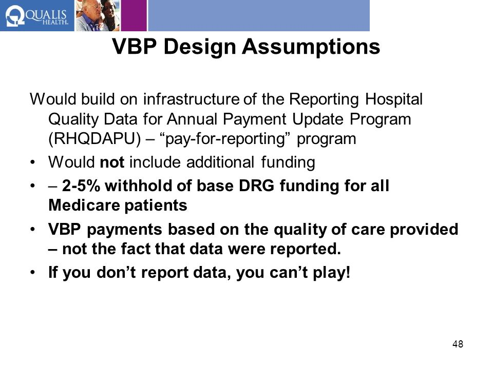 VBP Design Assumptions