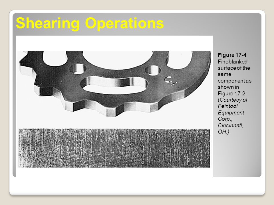 Shearing Operations